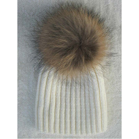Authentic Raccoon Fur Knitted Hats - MunchkinGear.com