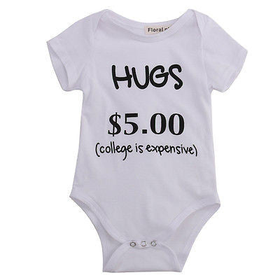 Pay For Hugs Onesie - MunchkinGear.com