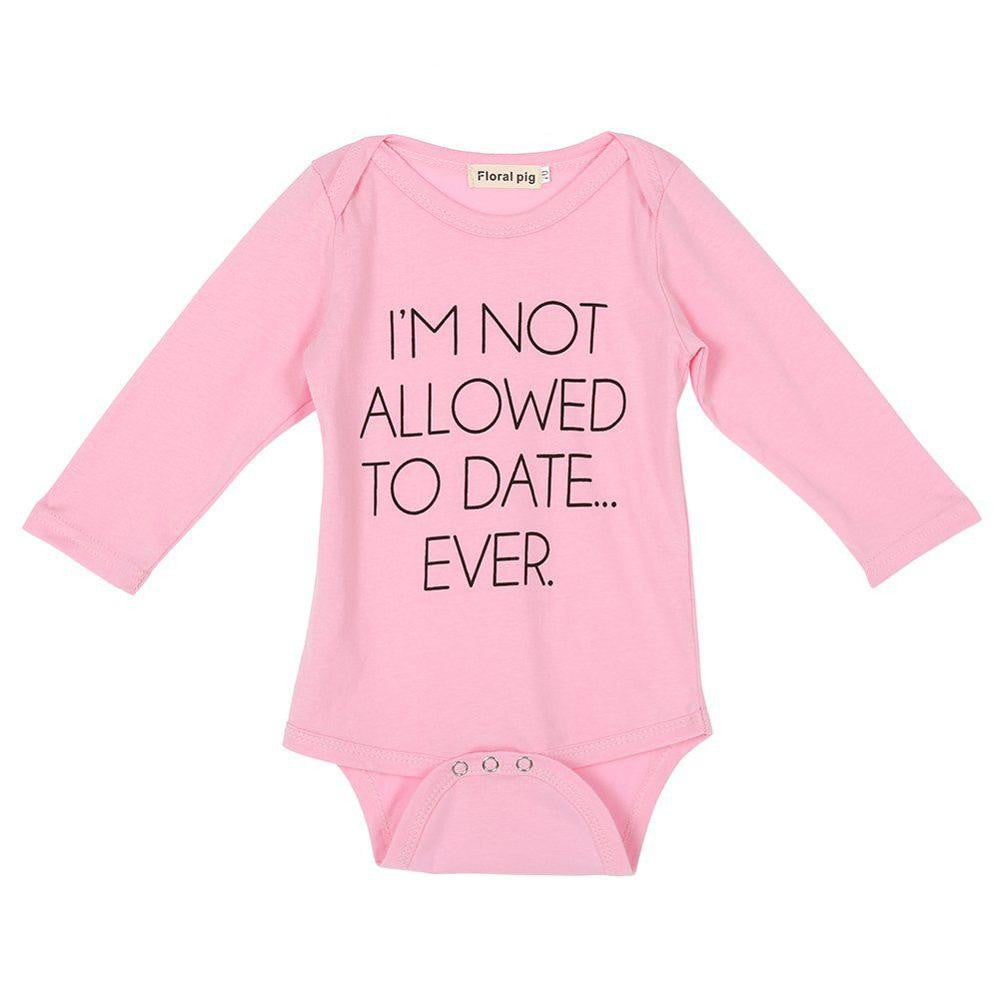 I'm Not Allowed To Date Ever Long Sleeve Onesie - MunchkinGear.com