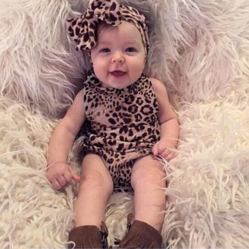 Leopard Outfit & Pink Outfit Comes With Headband - MunchkinGear.com