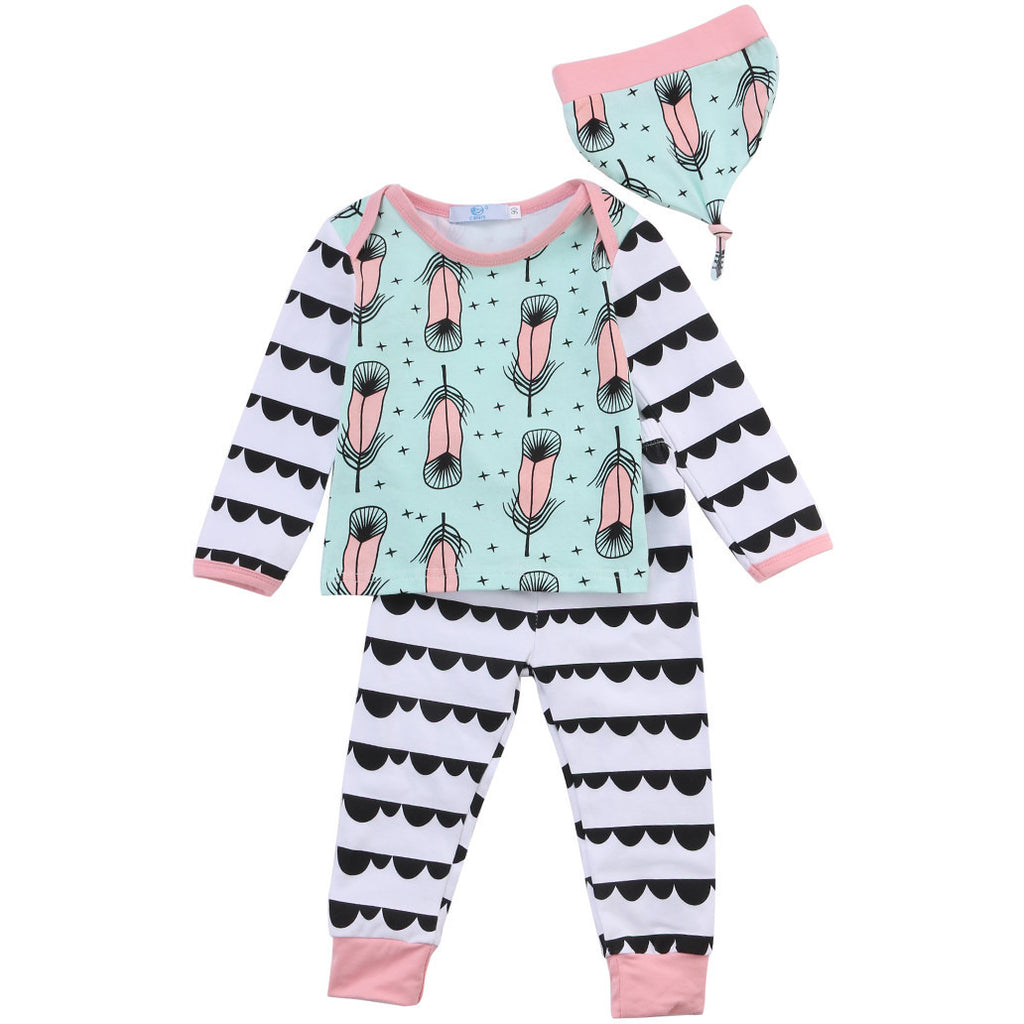 Feather Pattern 3 Piece Set - MunchkinGear.com