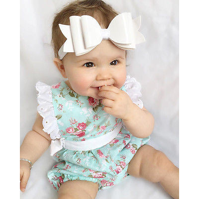 Blue and White Lace Onesie - MunchkinGear.com