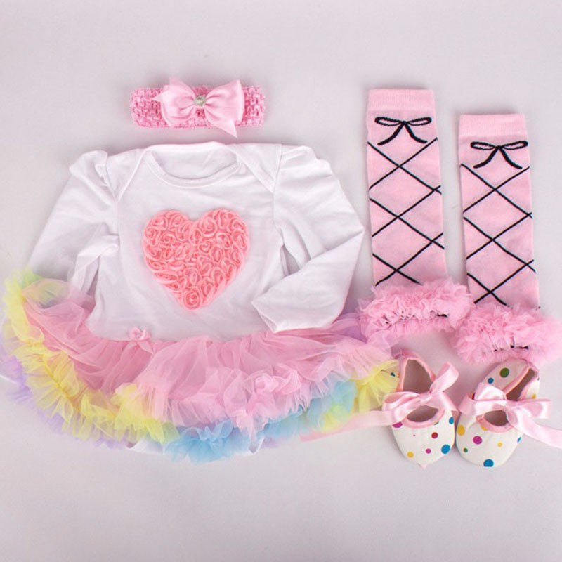 Light Pink Heart 4 PC Set - MunchkinGear.com