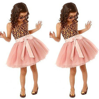 Leopard Print and Pink Tutu Party Dress - MunchkinGear.com