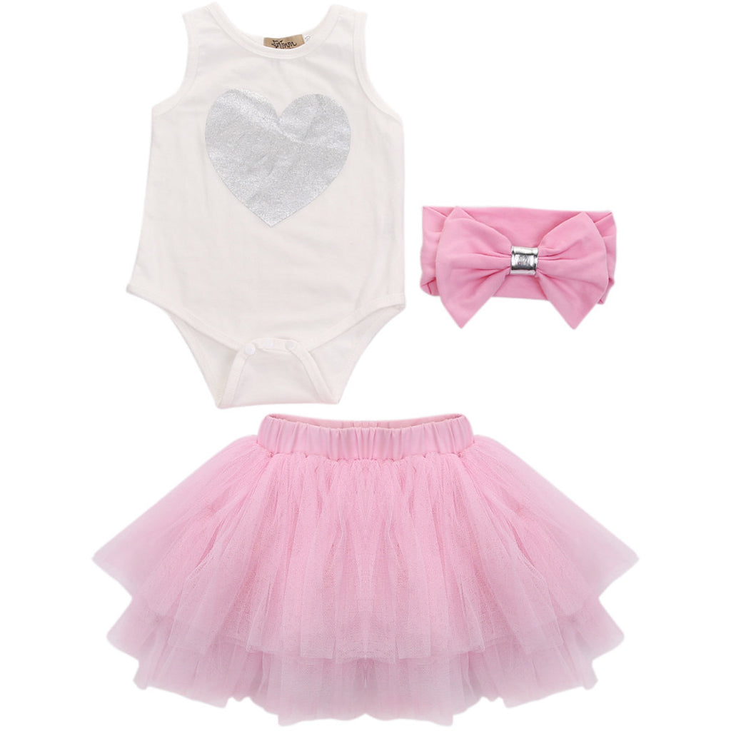 Heart Tutu 3 PC Set - MunchkinGear.com
