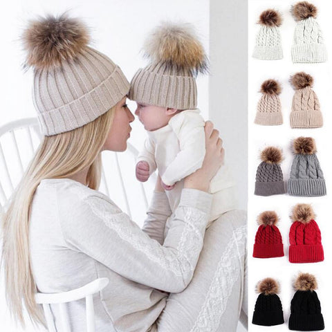 Mommy and Baby Matching Hats Set - MunchkinGear.com