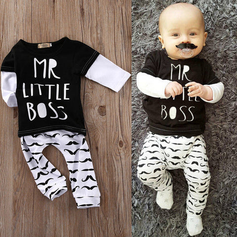Mr Little Boss 2 piece Set - MunchkinGear.com
