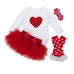 Red Long Sleeve Romper + Tutu + Stockings Set - MunchkinGear.com