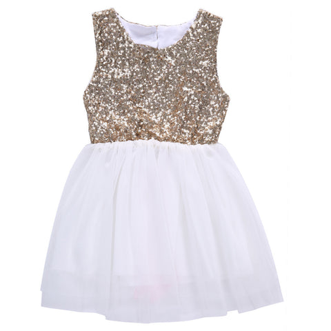 Sequins Party Gown With Open Heart Shape Back - MunchkinGear.com