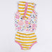 Yellow Floral and Striped 2 PC Set - MunchkinGear.com