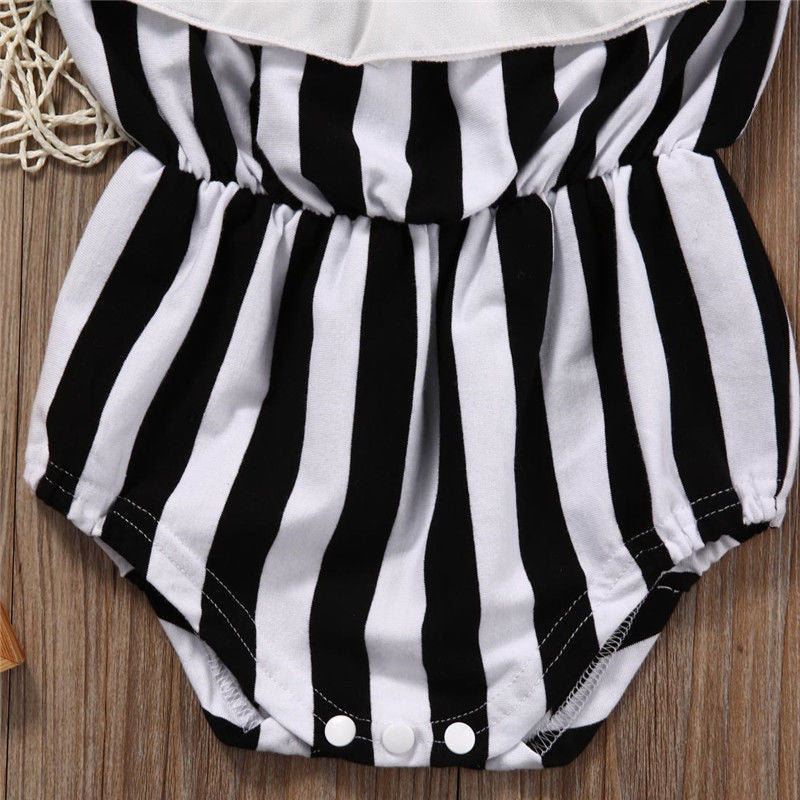 Sleeveless Striped Bodysuit - MunchkinGear.com