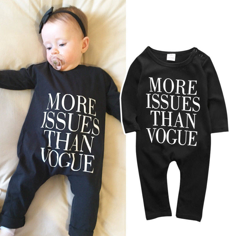More Issues Than Vogue Romper - MunchkinGear.com