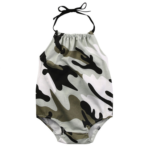 Army Pattern Sleeveless Onesie