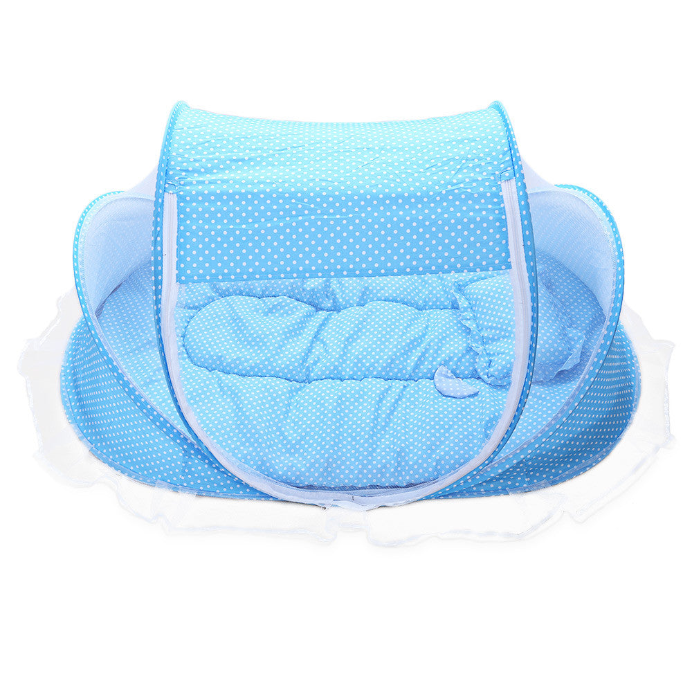 Portable Crib With Mosquito Net - MunchkinGear.com
