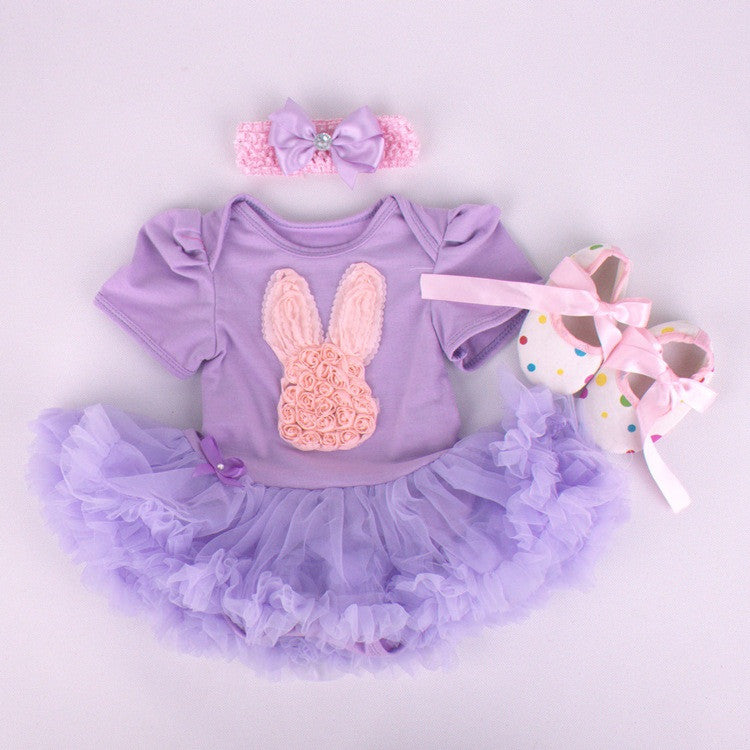 Purple Bunny Easter 3 Piece Set - MunchkinGear.com