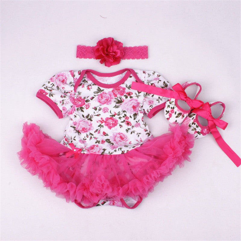 Floral Pattern Dark Pink 3 PC Set - MunchkinGear.com