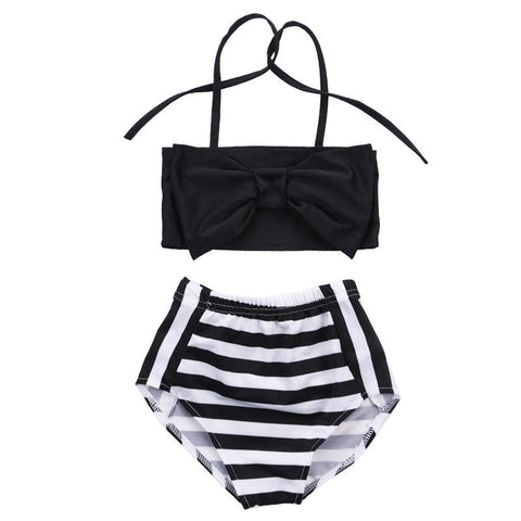 Striped Black and White Bikini