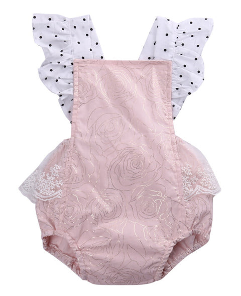 Pink Polka Dot and Flower Pattern - MunchkinGear.com