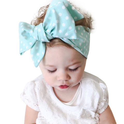 Blue or Pink Polka Dot Bowknot Headbands