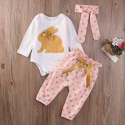 Gold Rabbit 3 Pc Set - MunchkinGear.com