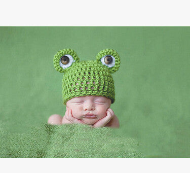 Frog Knitted Photography Props