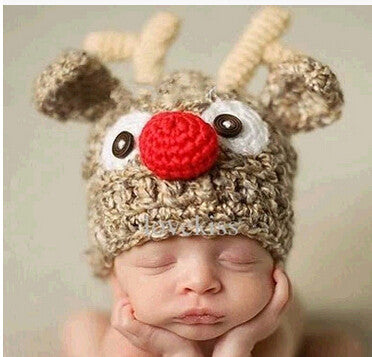 Deer Knitted Photography Prop