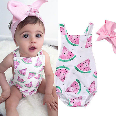 Watermelon Pattern Onesie Set - MunchkinGear.com