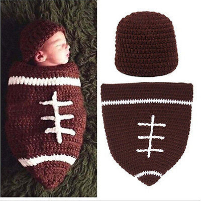 Knitted Football Photography Prop - MunchkinGear.com