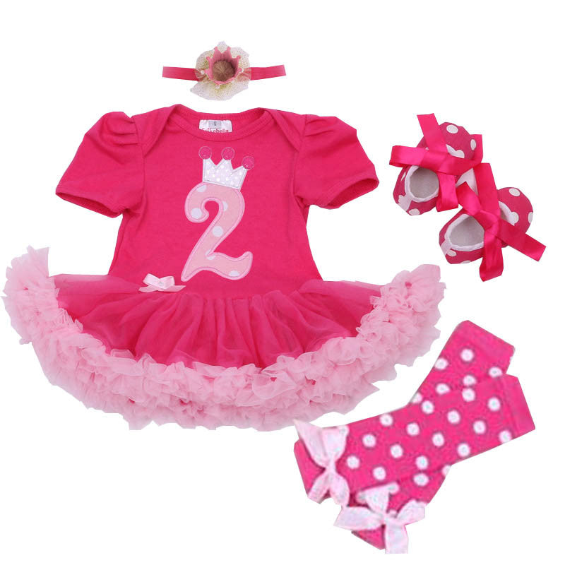 2nd Birthday Outfit 4 Piece Set
