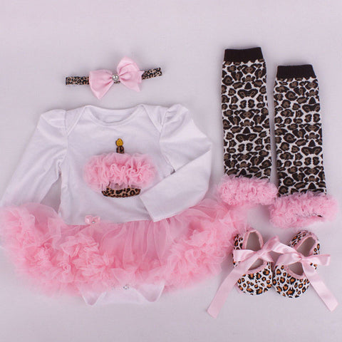 Cupcake and Leopard 4 Piece Party Set