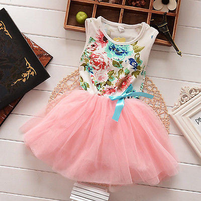 Princess Floral Party Dress