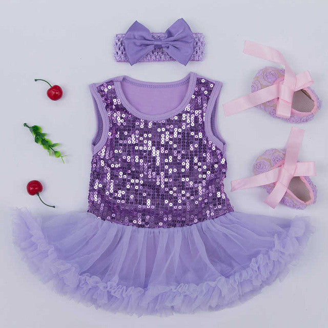 Purple Sparkly Tutu Set - MunchkinGear.com