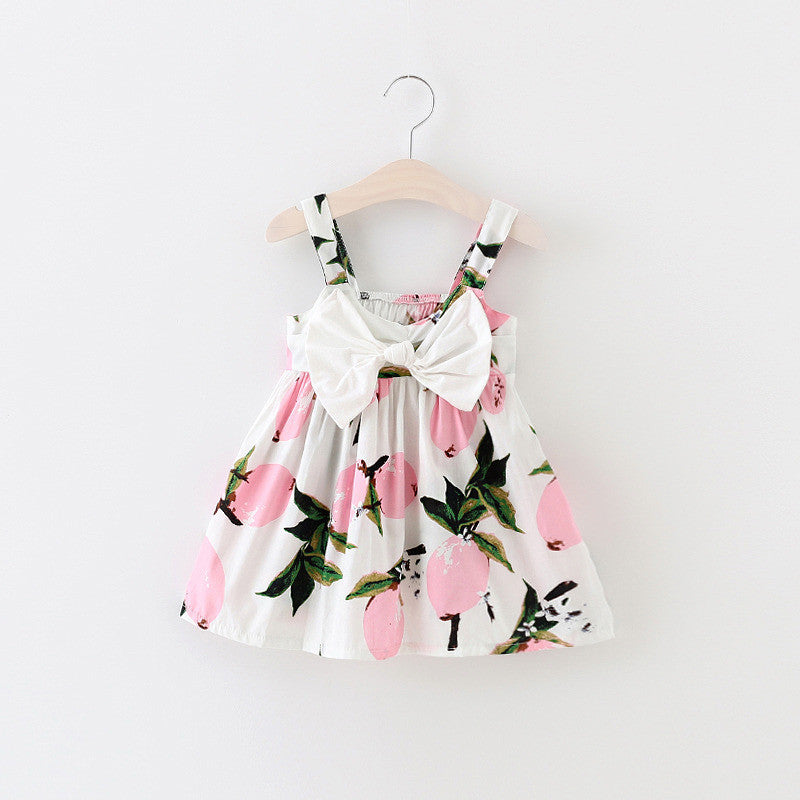 Pink Fruit Pattern Dress - MunchkinGear.com