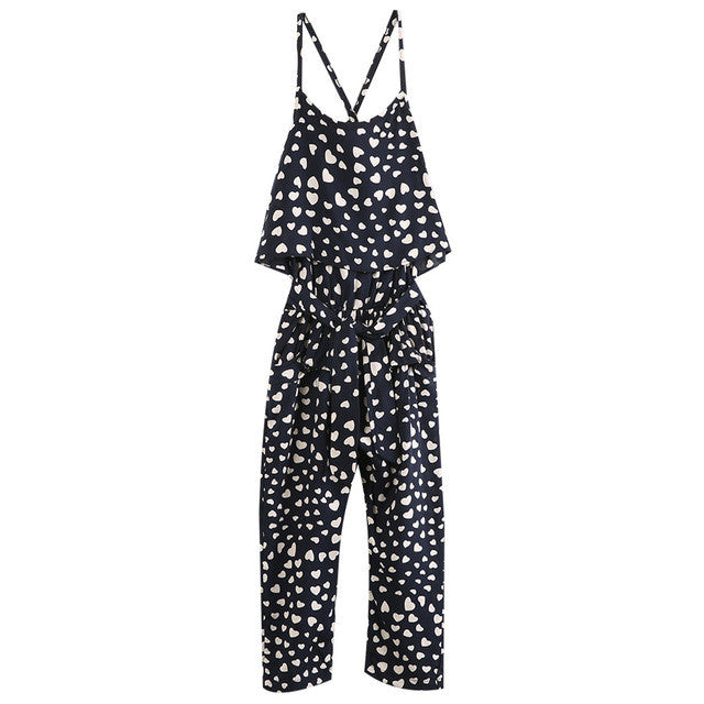 Heart Pattern Jumpsuit and Headband Set - MunchkinGear.com