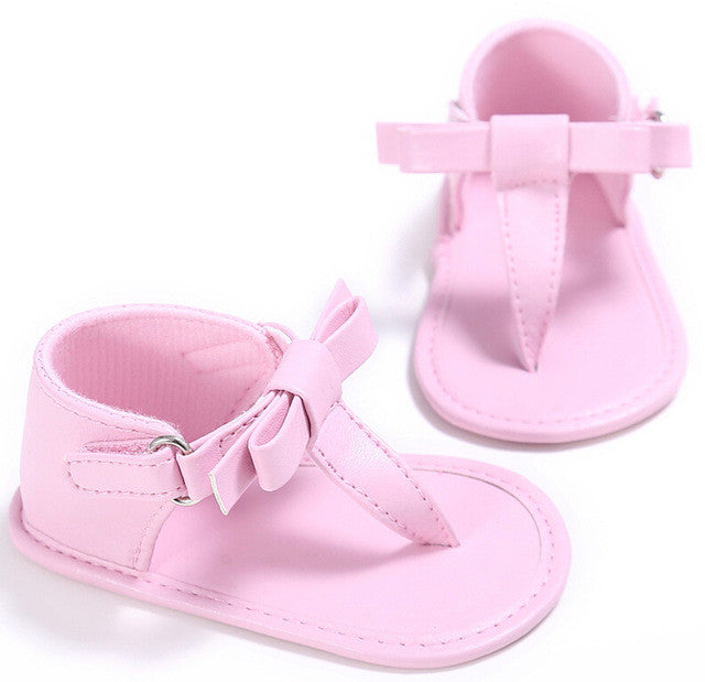 Soft Sandals With Bow