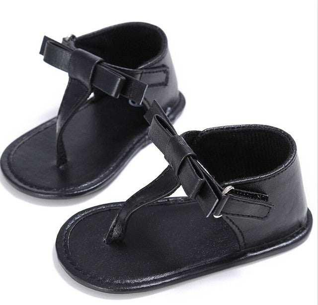 Soft Sandals With Bow - MunchkinGear.com