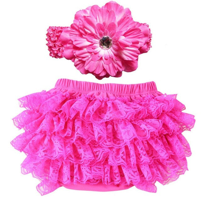 Pink Flower Headband and Tutu Skirt Set - MunchkinGear.com