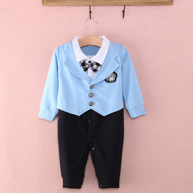 Gentleman Party Romper - MunchkinGear.com