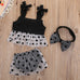 Black and White Poka Dot 3 Piece Set - MunchkinGear.com