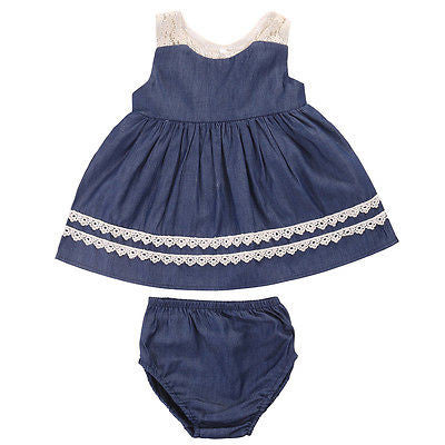 Denim Dress 2 Pc Set - MunchkinGear.com