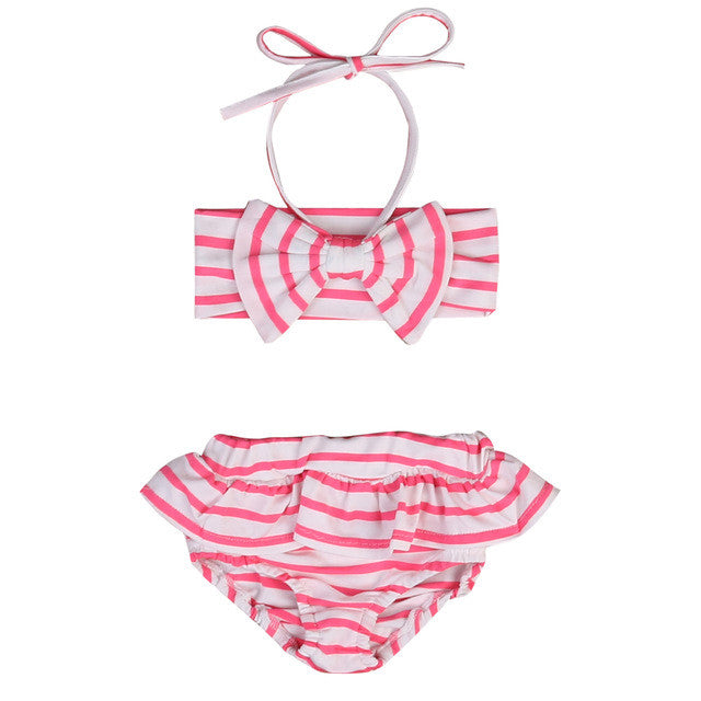 Pink and White Striped Bikini - MunchkinGear.com