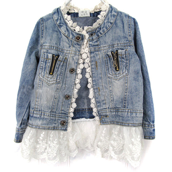 Jean Jacket With Lace - MunchkinGear.com