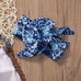 White and Navy Pattern Sleevless Set - MunchkinGear.com
