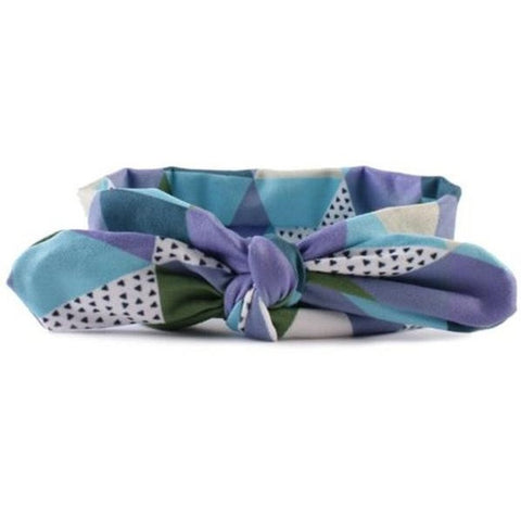 Multi Color Pattern Bowknot Headband - MunchkinGear.com