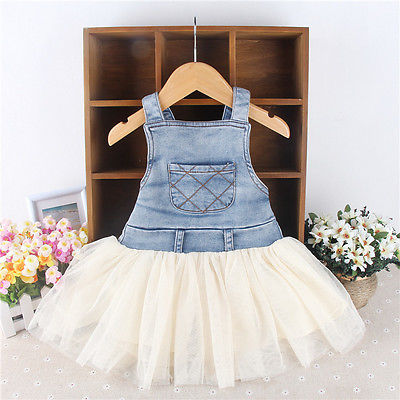 Denim and Cream Tutu Dress