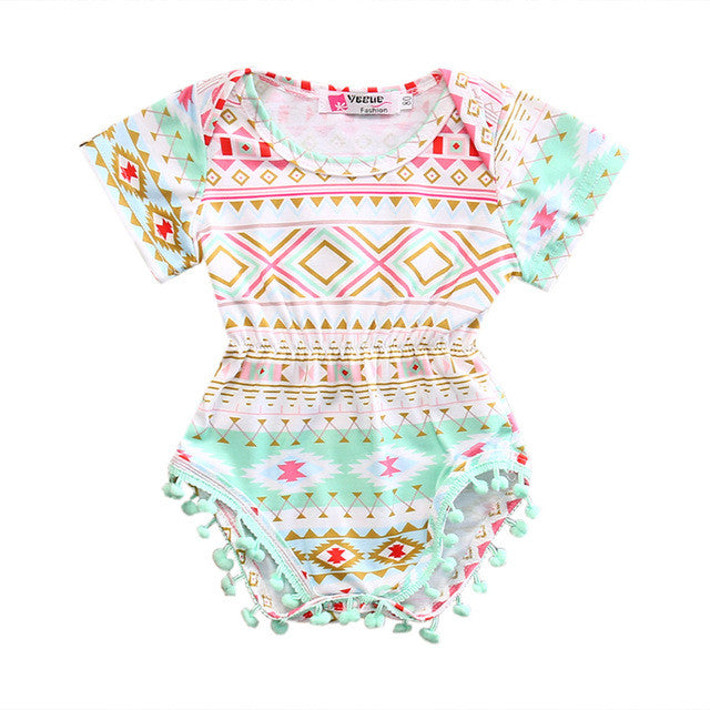 Multi Color Pattern Romper - MunchkinGear.com