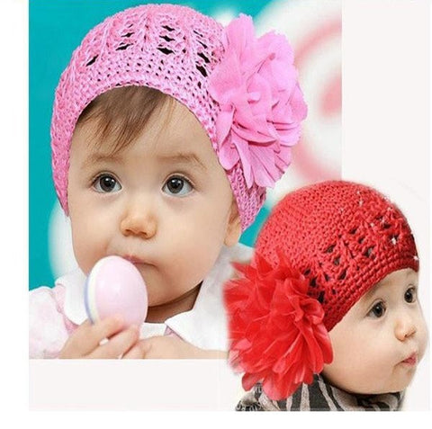 Red and Pink Flower Beanies - MunchkinGear.com