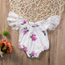 White and Pink Rose Onesie