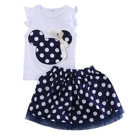 Navy Polka Dot 2 PC Set - MunchkinGear.com