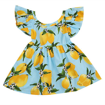 Lemon Fruit Pattern Dress